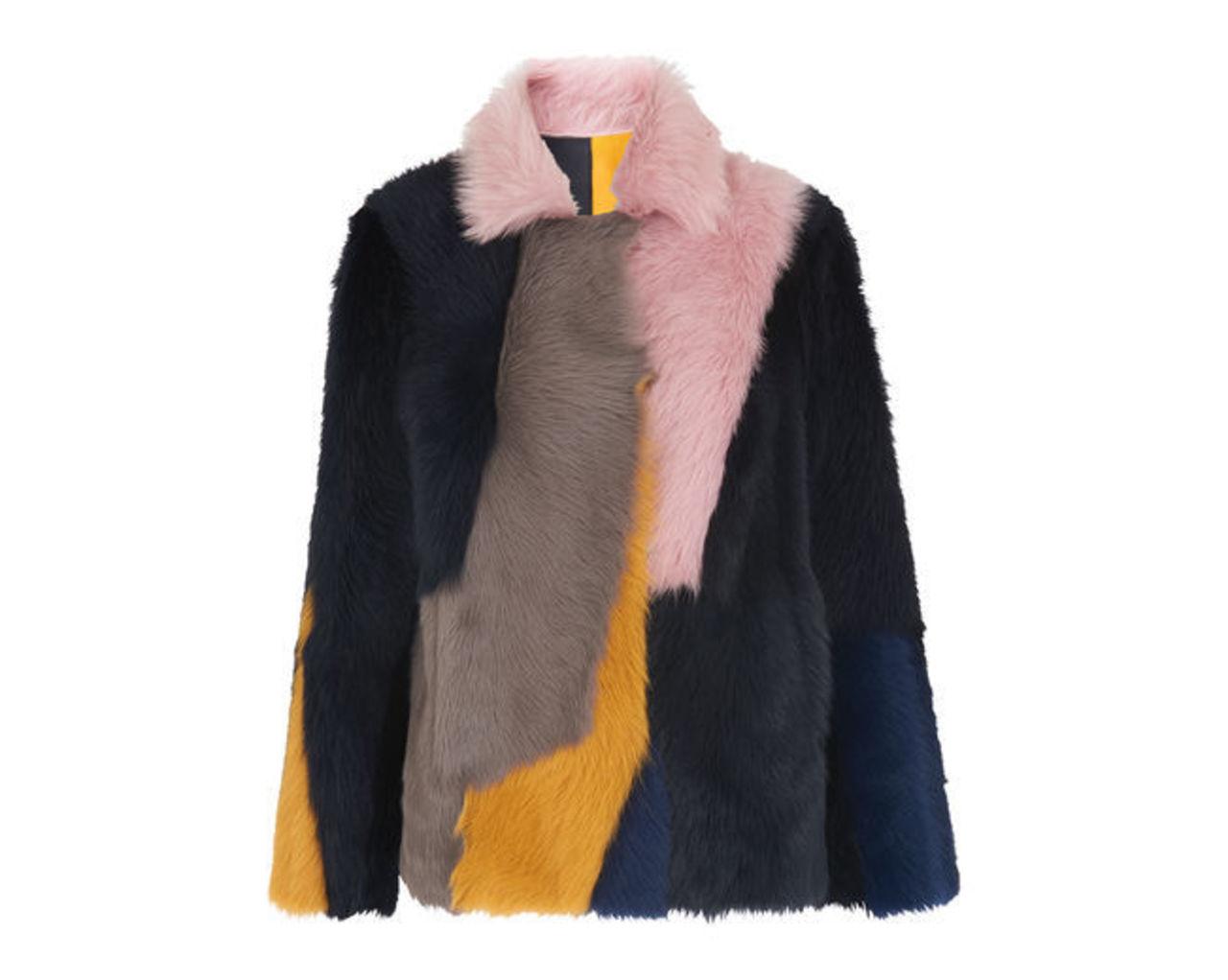 Colour Block Toscana Coat