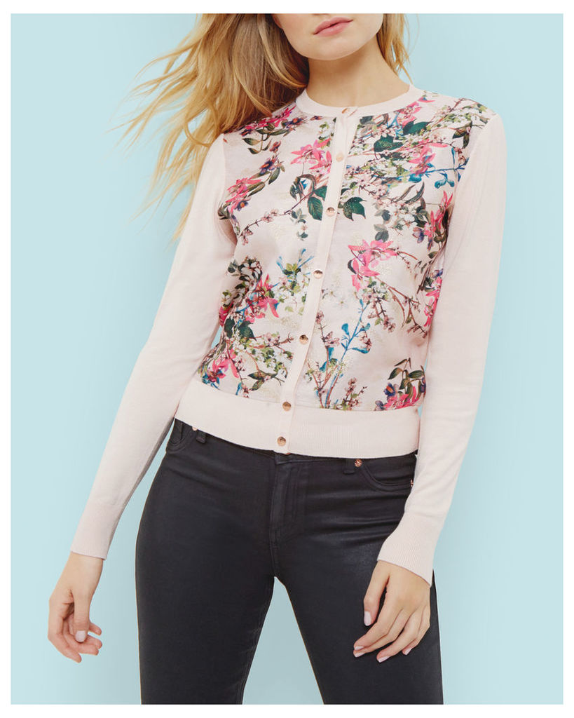 Ted Baker Blossom Jacquard cardigan Pink