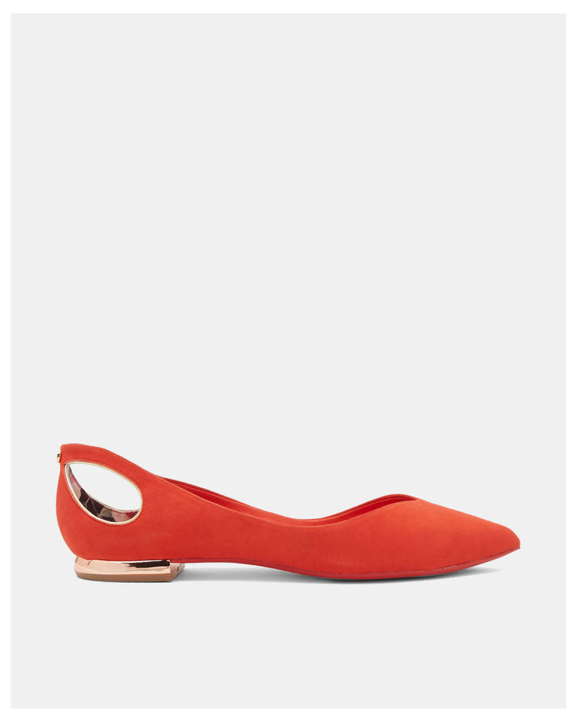 Ted Baker Cut-out pointed flats Bright Orange