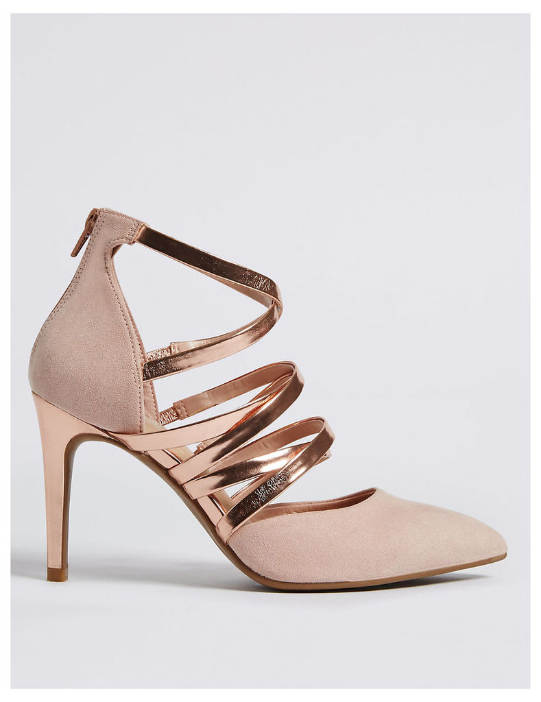 M&S Collection Stiletto Caged Court Shoes