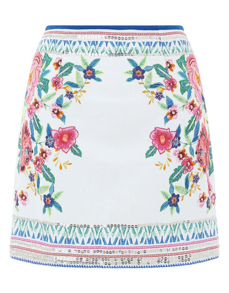 Ellie Embroidered Skirt