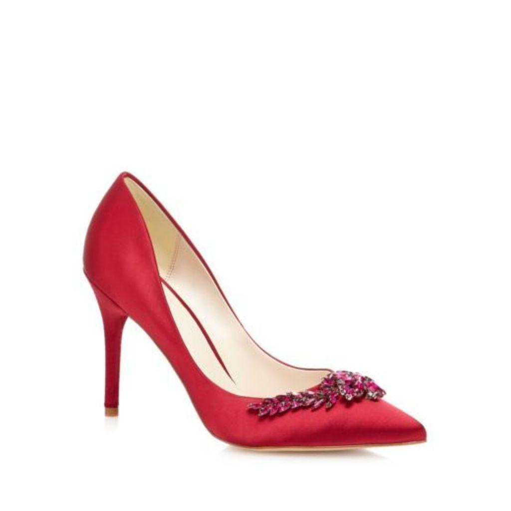 J By Jasper Conran Red Satin 'Jonelle' High Stiletto Heel Court Shoes 5