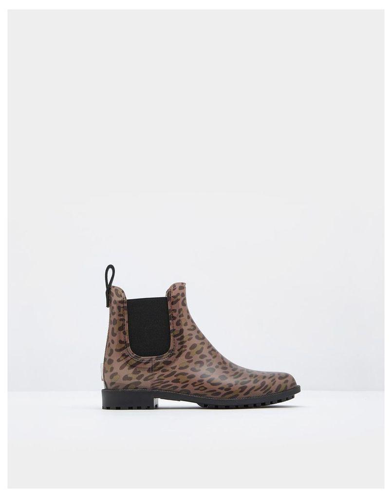 Leopard Spot Rockingham Chelsea Boots  Size Adult 8   Joules UK