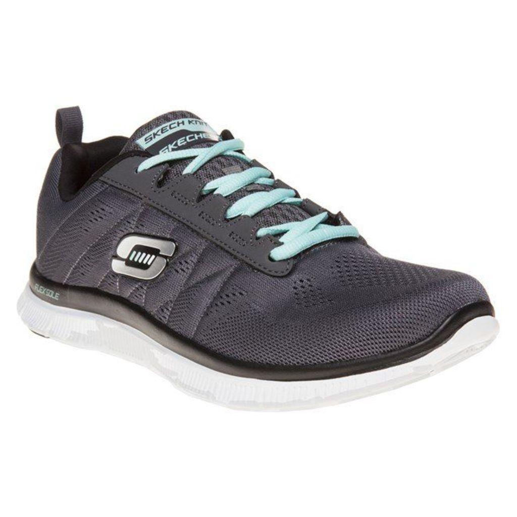 Skechers Flex Appeal Sweet Spot Trainers, Charcoal/Black