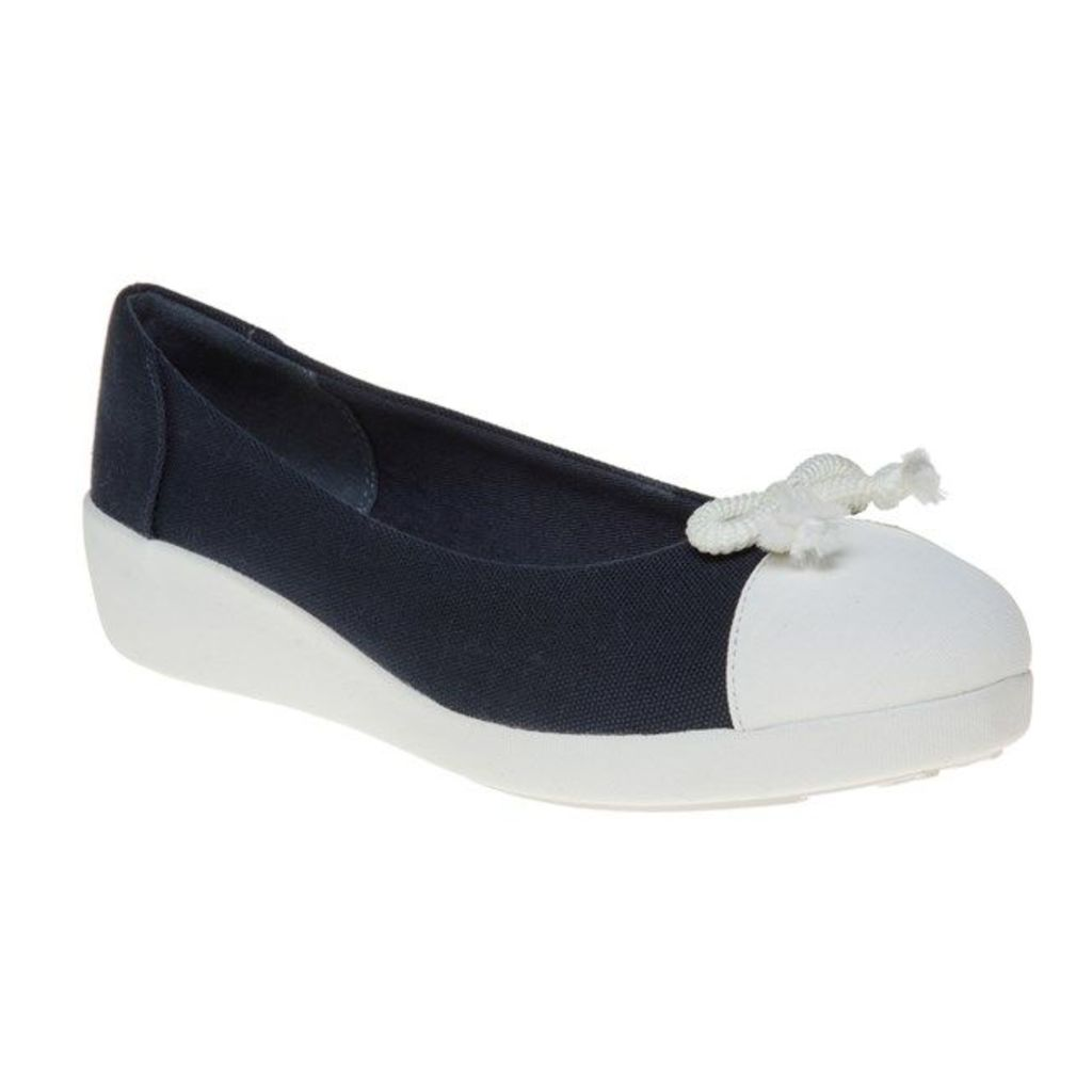 FitFlop F-Pop Bow Ballerina Shoes, Supernavy