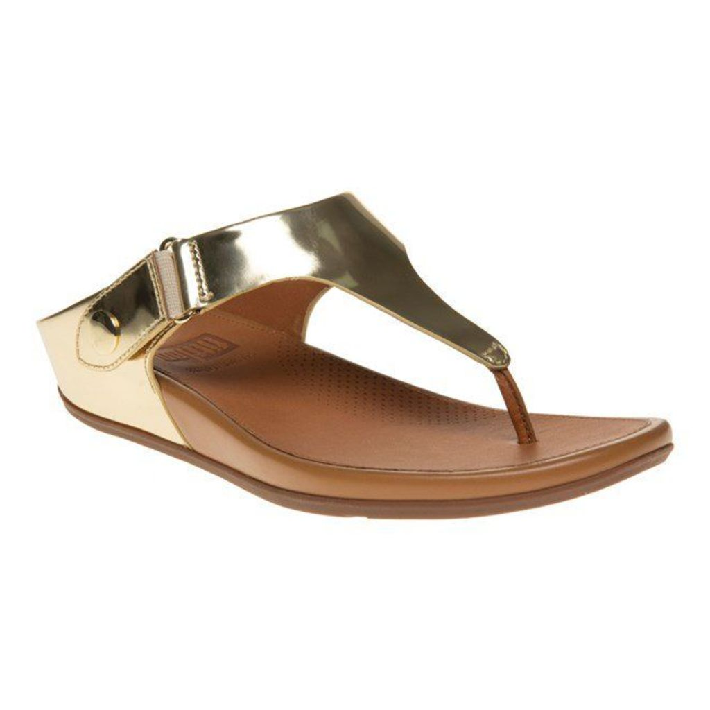 FitFlop Gladdie Toe-Post Sandals, Pale Gold