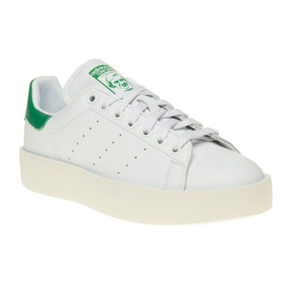 adidas Stan Smith Bold Trainers, Ftw White/Green