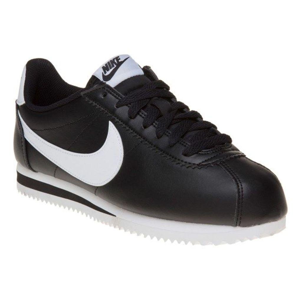 Nike Cortez Leather Trainers, Black/White