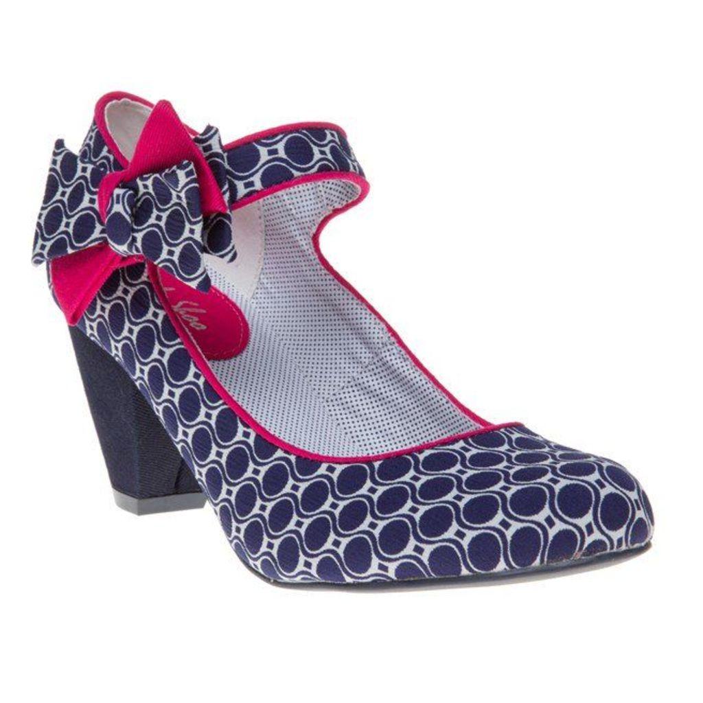 Ruby Shoo Piper Shoes, Navy/Fuschia