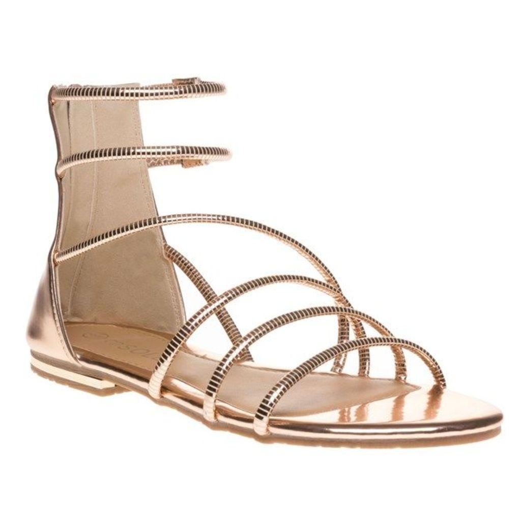 SOLE Megan Sandals, Rose Gold