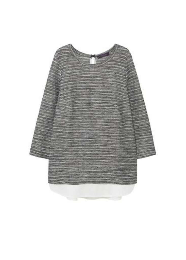 Striped combi sweatshirt