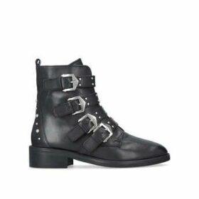 Carvela Scant - Black Leather Biker Boots