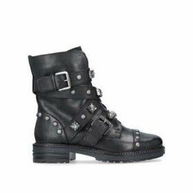 Carvela Sander - Black Flat Biker Boots