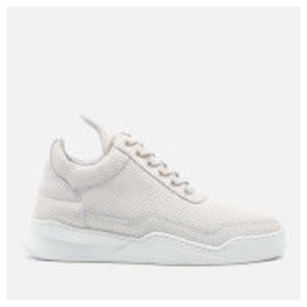 Filling Pieces Women's Ghost Perforated Suede Low Top Trainers - White