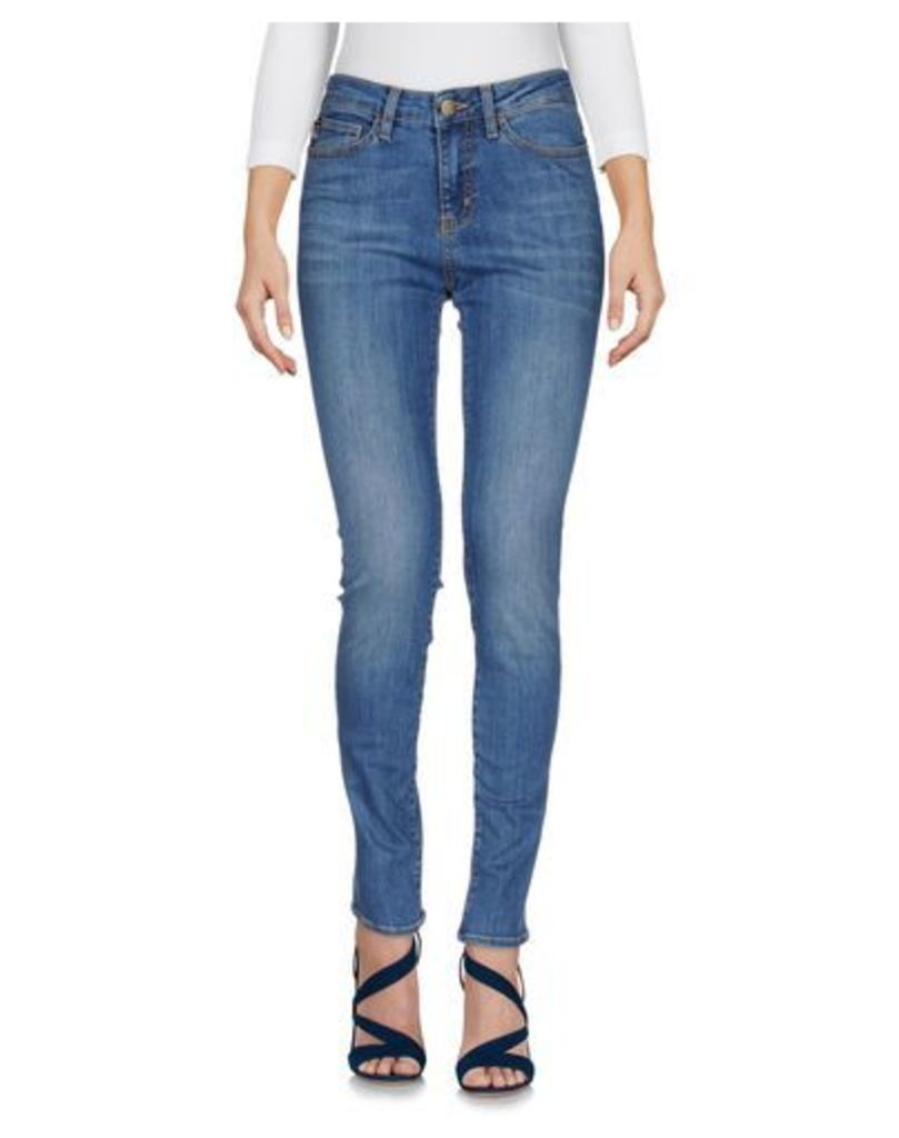 LOVE MOSCHINO DENIM Denim trousers Women on YOOX.COM