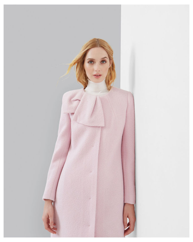 Ted Baker Oversized bow coat Pink