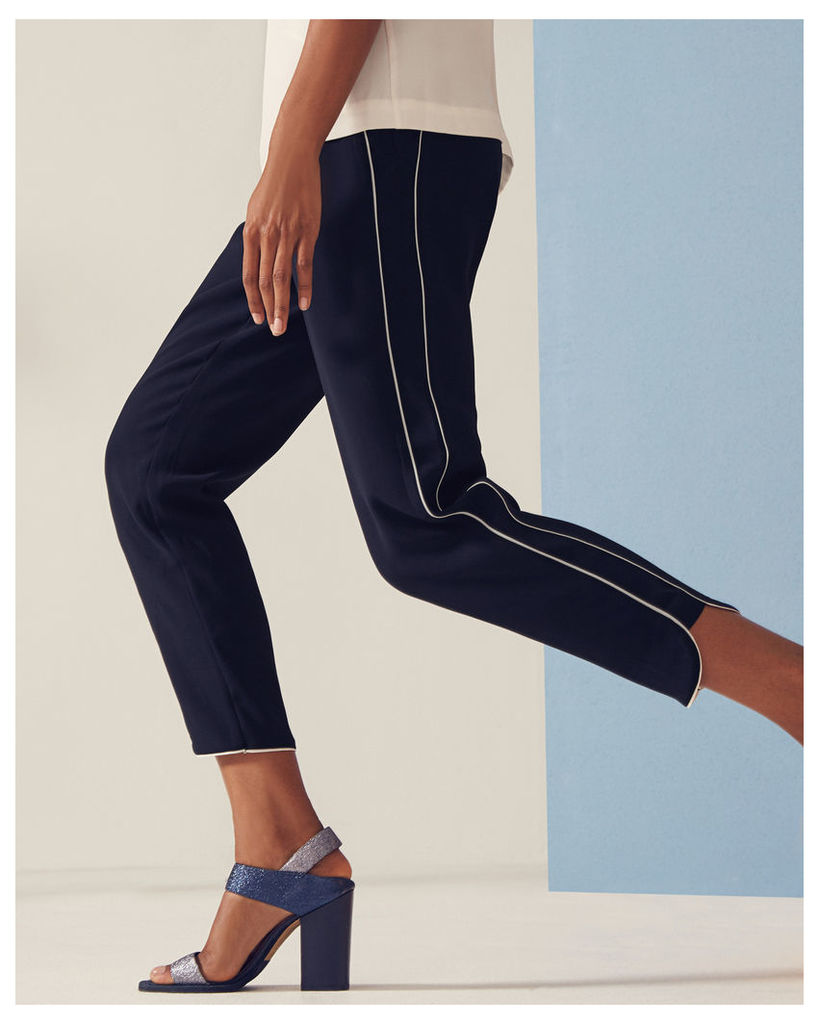 Ted Baker Piped jogger trousers Dark Blue