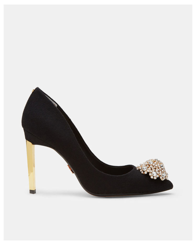 Ted Baker Brooch detail wool courts Black