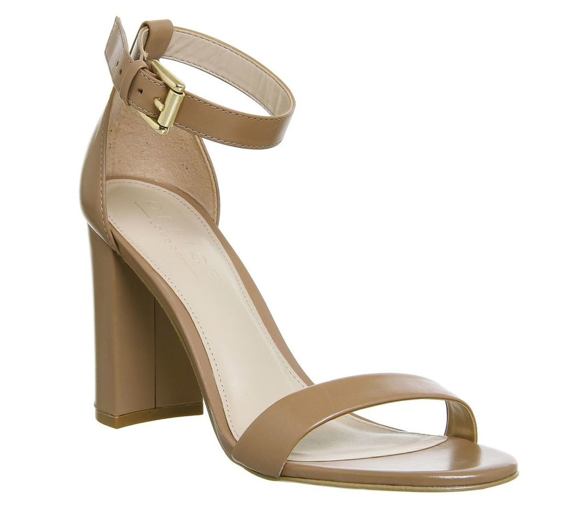 Office Nina Block Heel Sandals, Nude