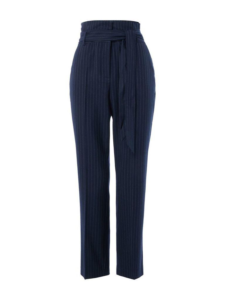 Maison De Nimes Pinstripe Trouser, Blue