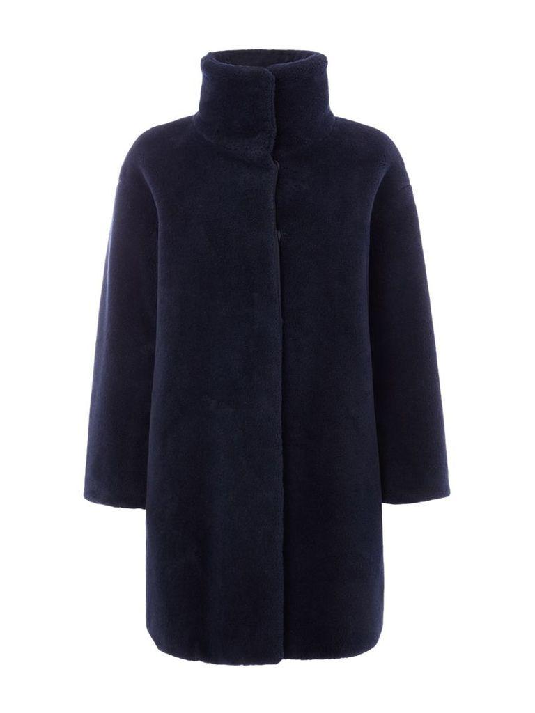 Max Mara Lipari faux fur coat, Ultramarine