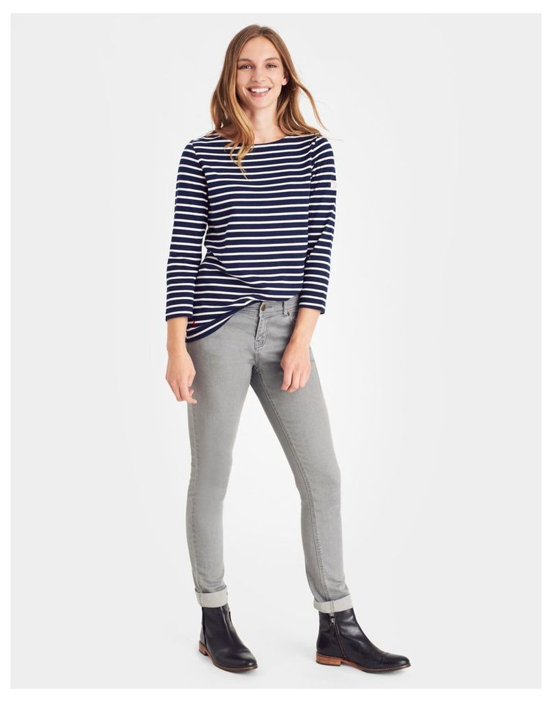 Hope Stripe French Navy Harbour  Jersey Top  Size 12   Joules UK