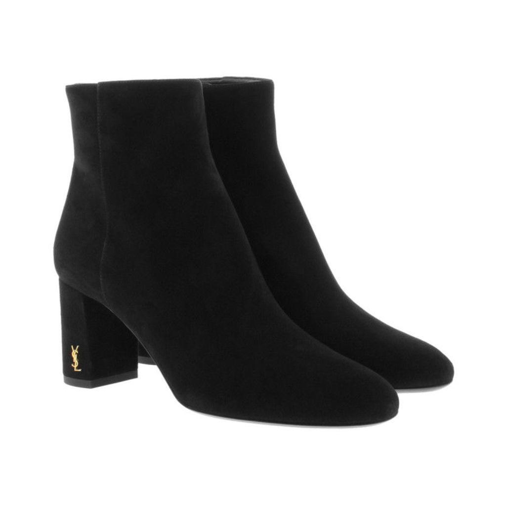 Saint Laurent Boots & Booties - Lou Lou 70 Zip Bootie Black - in black - Boots & Booties for ladies