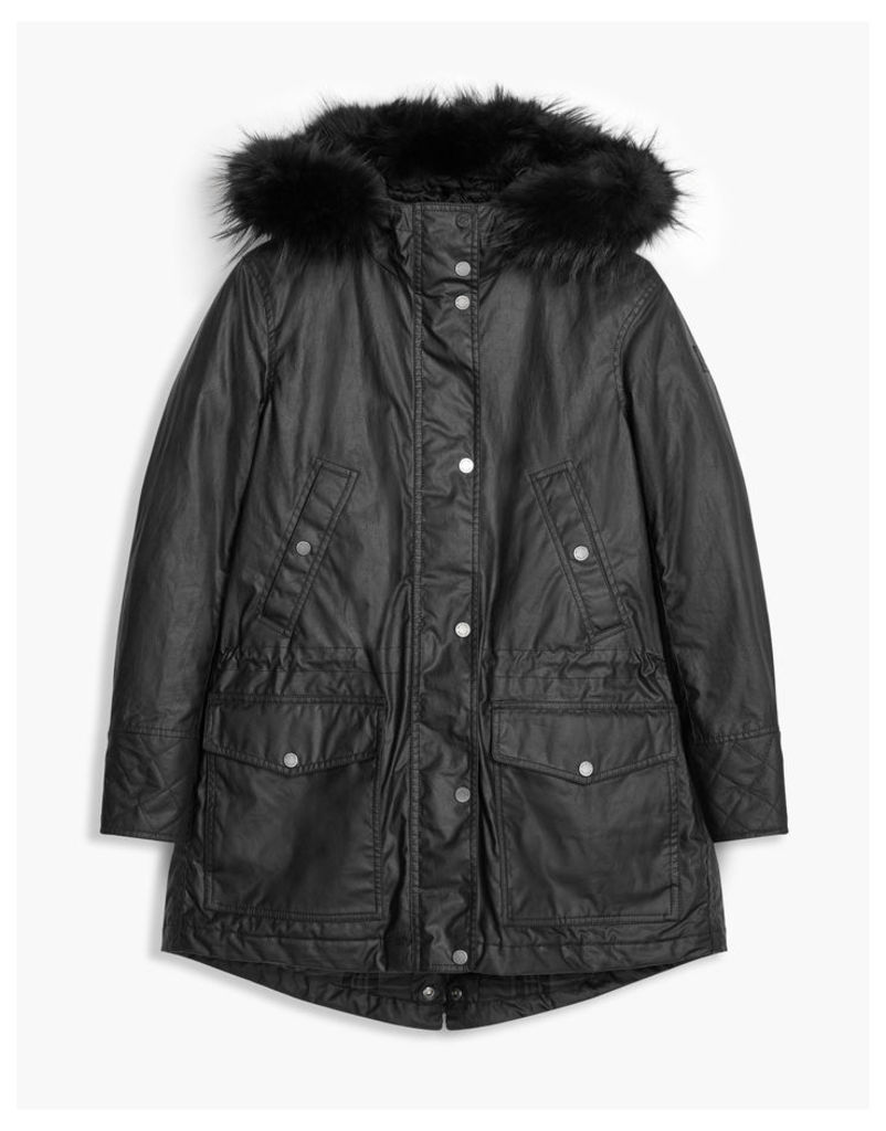 Belstaff Clyde Parka Jacket Black