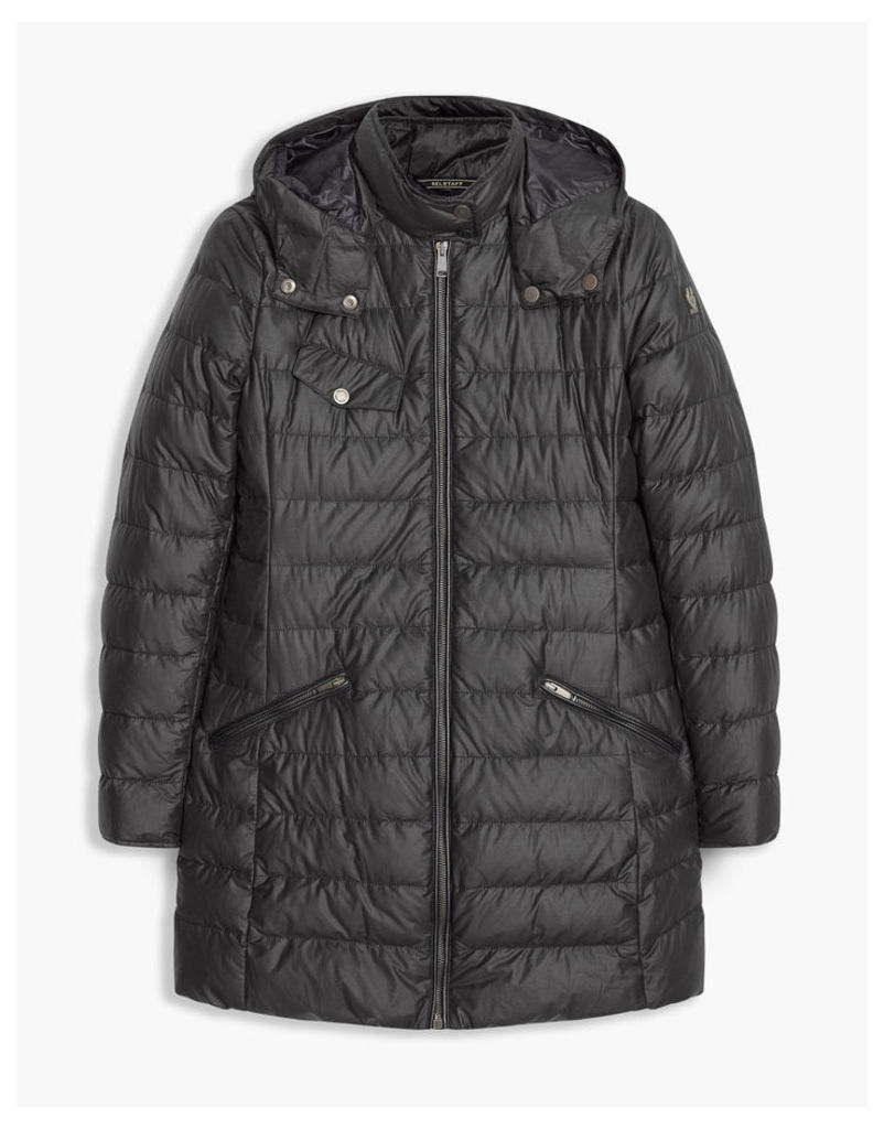 Belstaff Melcombe Down Coat Woman W/Fur Black