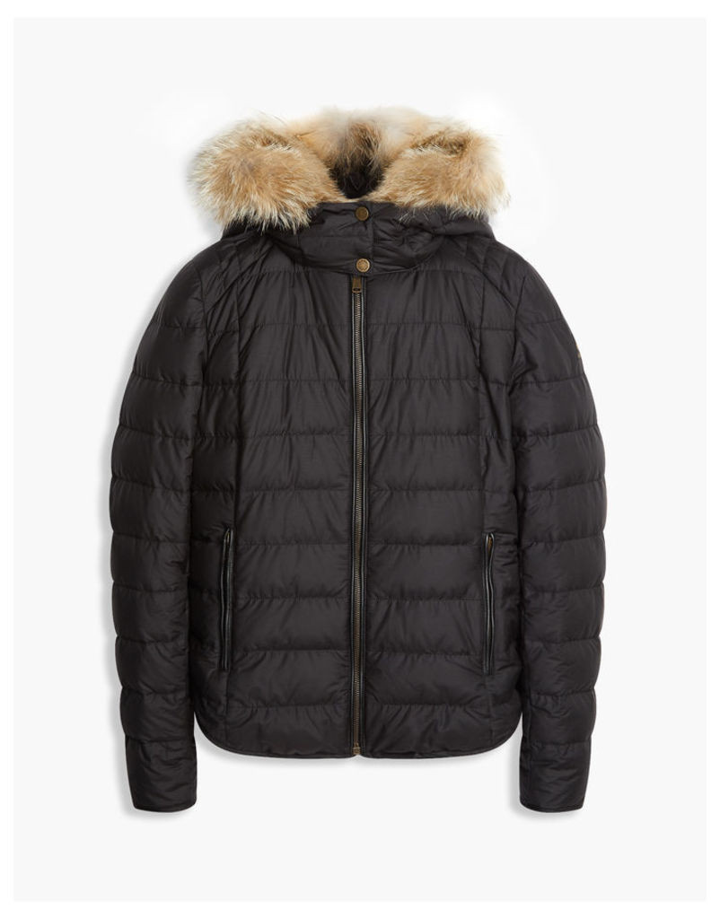 Belstaff Avedon Down Jacket With Fur Black