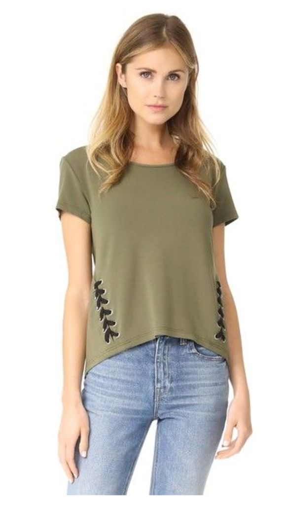 bobi Army Lace Up Tee