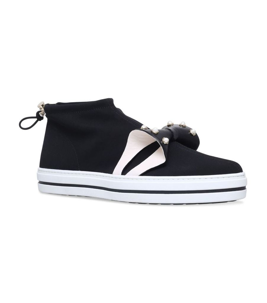 Sneaky Lolita Pearly Bow Sneakers