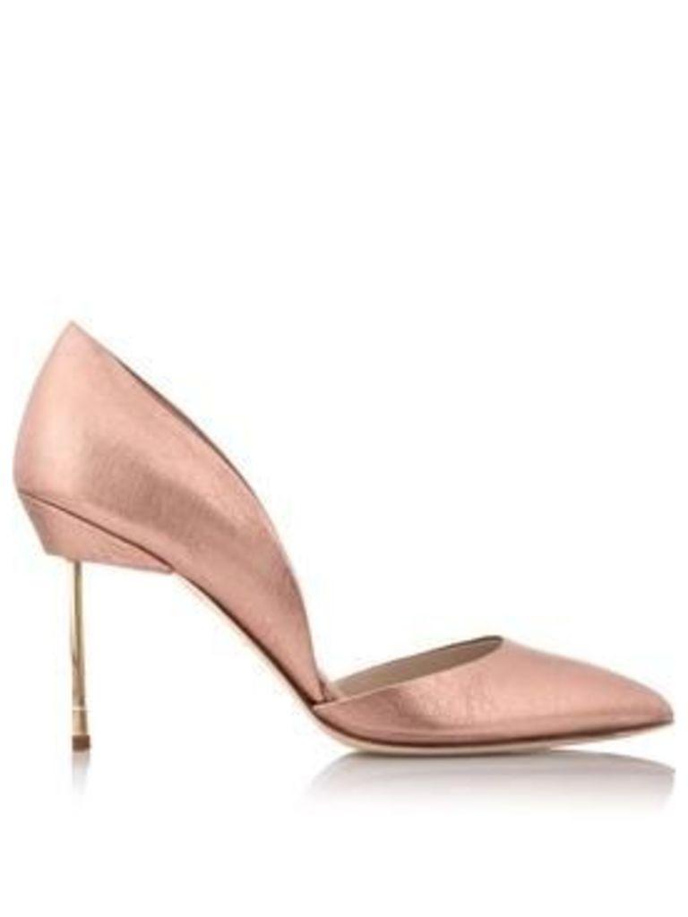 Kurt Geiger London Beaumont Metallic Court Shoes - Rose Gold