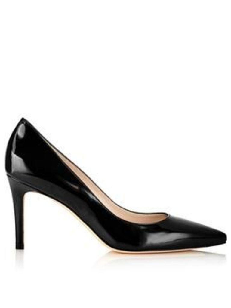 L.K. Bennett Floret Patent Court Shoes - Black