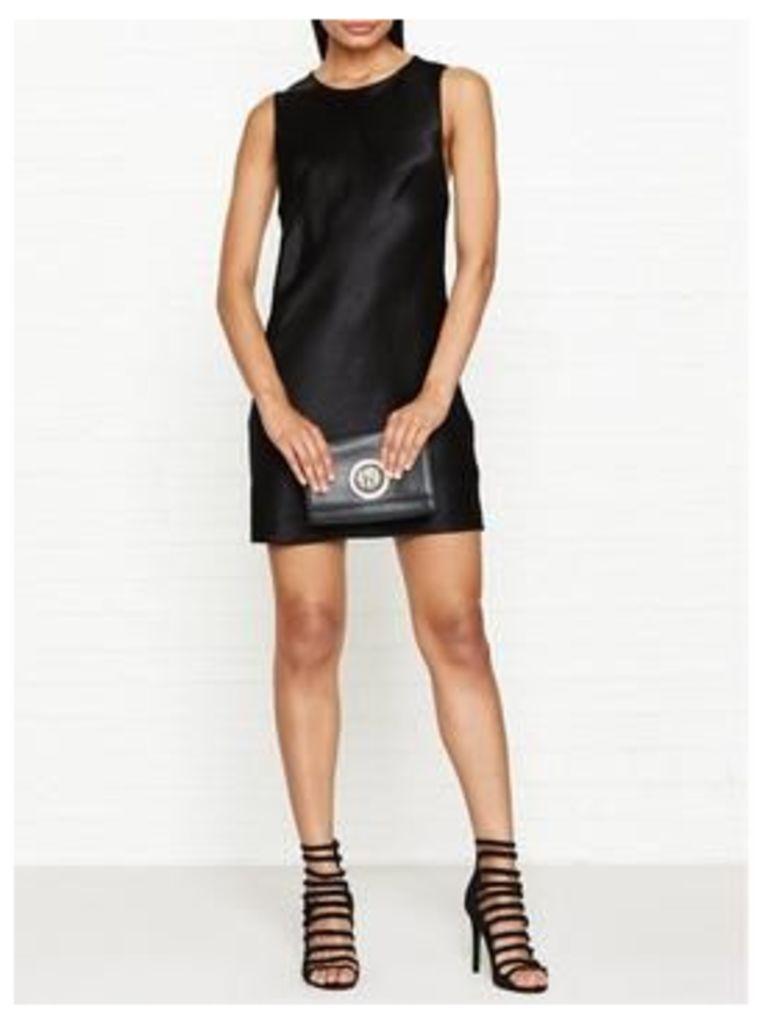 Versus Versace Shine Finish Safety-Pin Back Detail Dress - Black