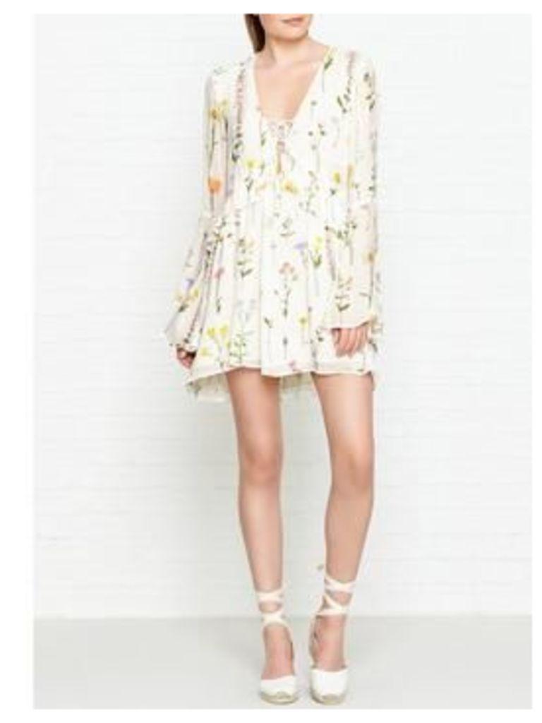 Wildfox Brando Wild Flower Print Dress - White