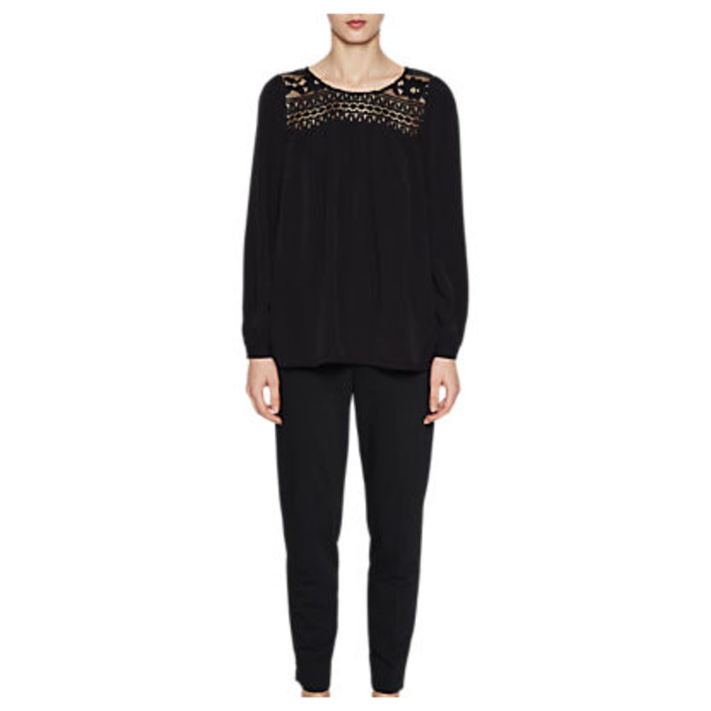 French Connection Shirley Crepe Smock Top, Black