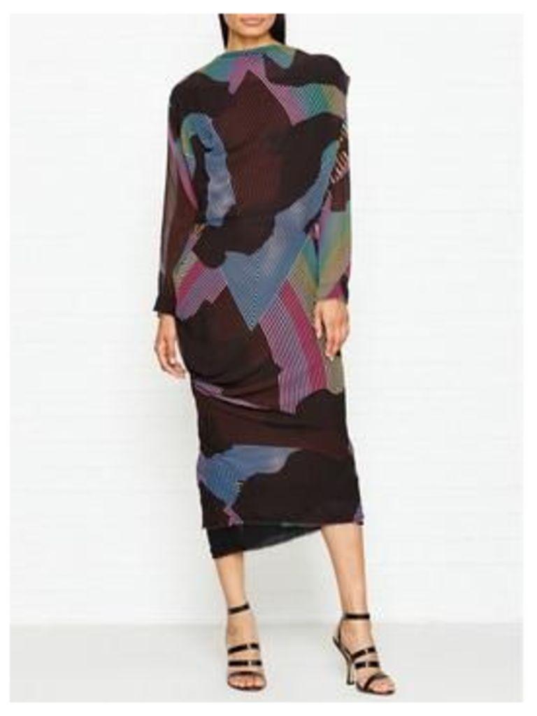 Vivienne Westwood Anglomania New Fond Silk Printed Dress - Multi