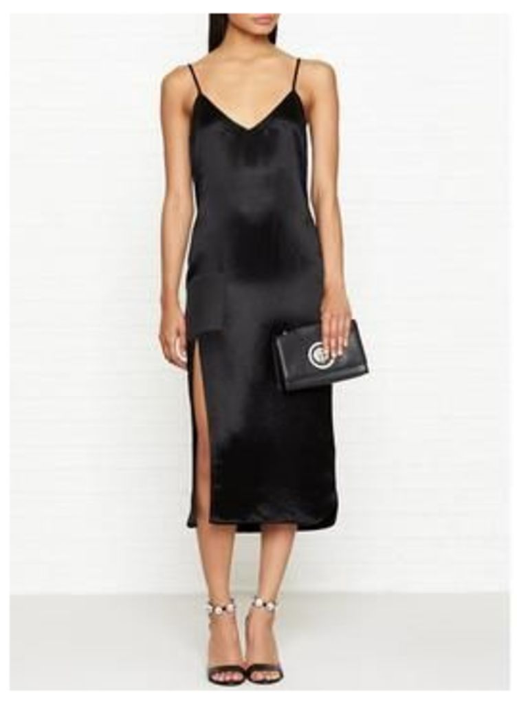 Versus Versace Shine Finish Slip Dress - Black