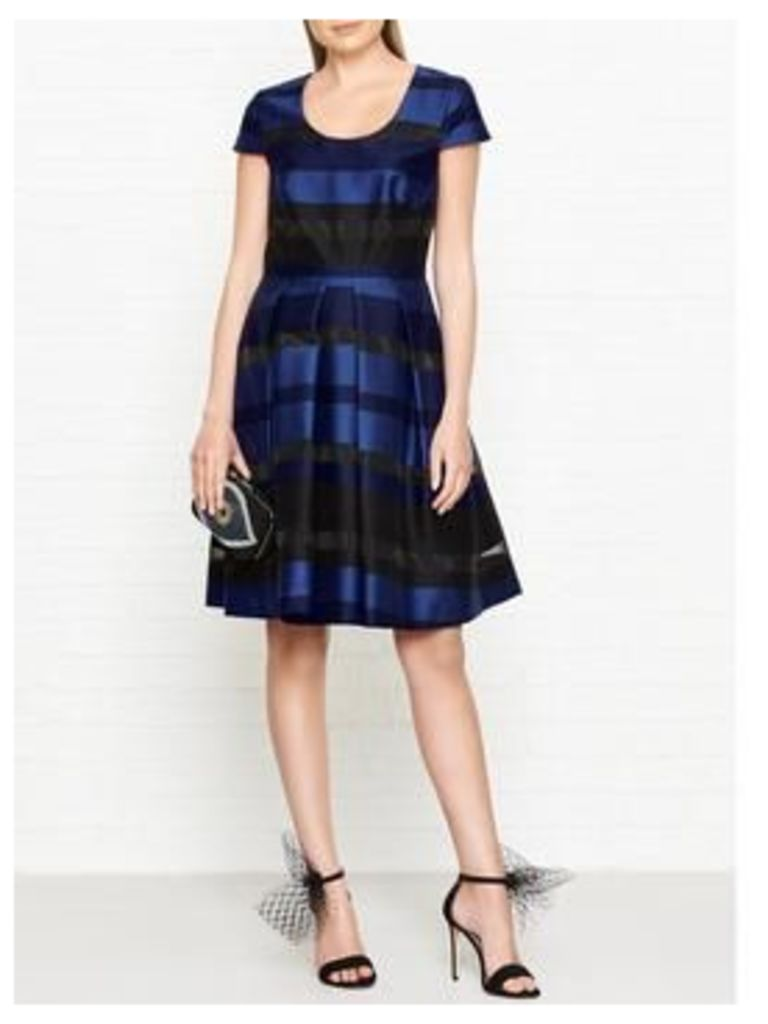 Ps By Paul Smith Stripe Structured Dress - Black/Blue