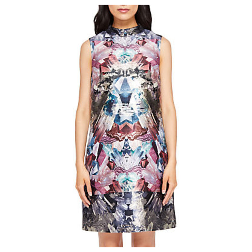 Ted Baker Heidy Mirrored Minerals Tunic Dress, Mid Grey