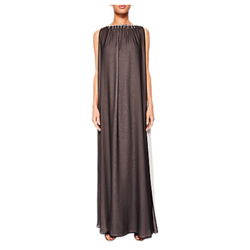 Ted Baker Embellished Two-Tone Maxi Dress, Black
