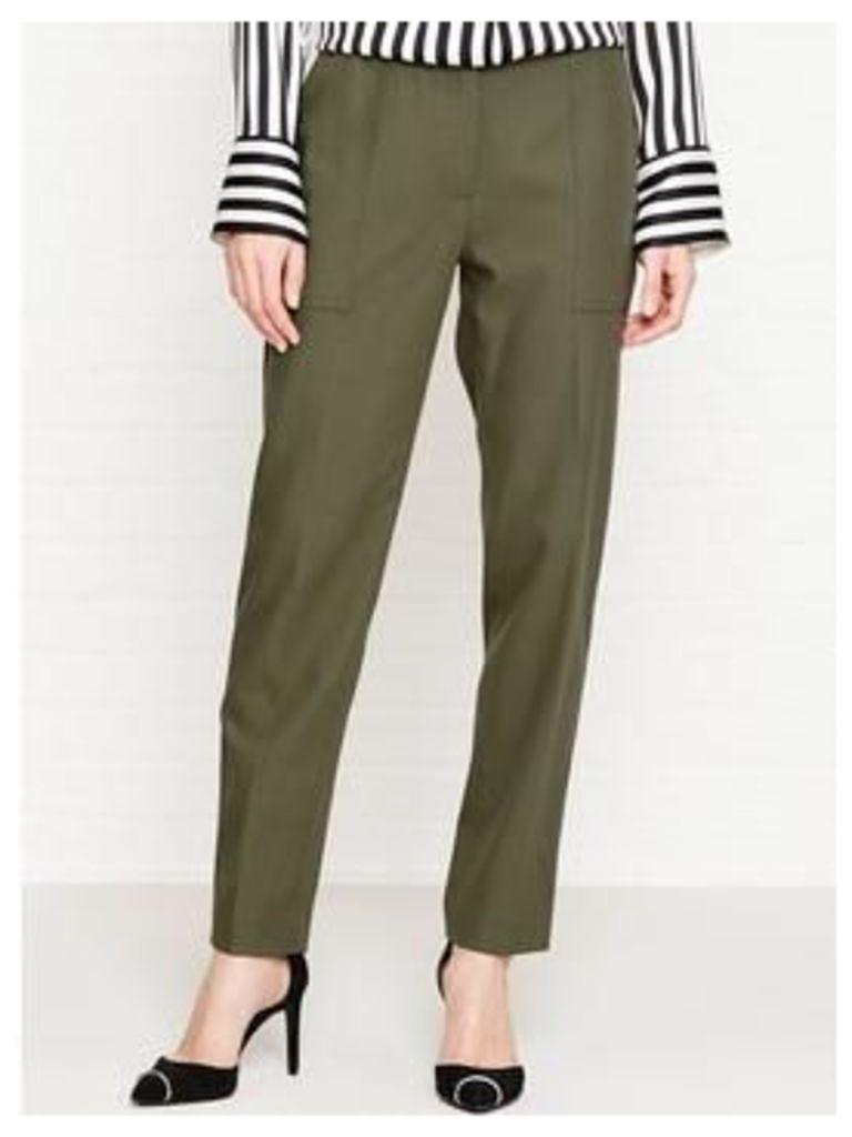 Kenzo Tailored Cotton Trousers - Khaki