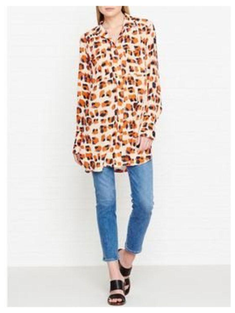 By Malene Birger Kilianna Leopard Print Shirt - Orange