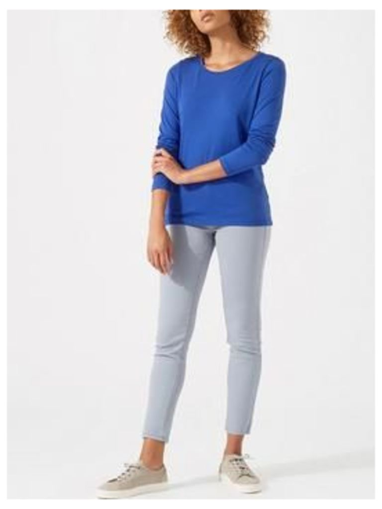 Jigsaw Knitted Wrap Top - Pacific Blue