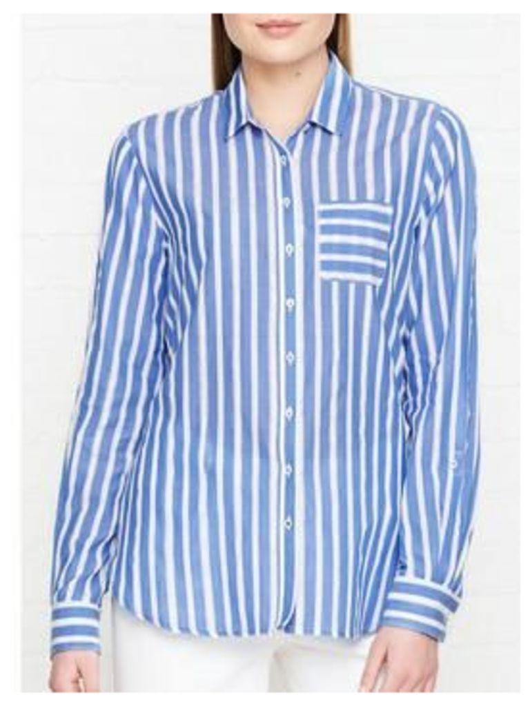 Tommy Hilfiger Aris Striped Long Sleeve Shirt - Blue/White