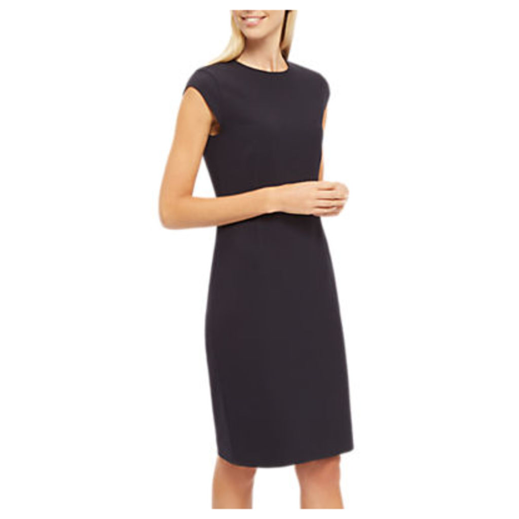 Jaeger Fitted Exposed Dart Dress, Midnight