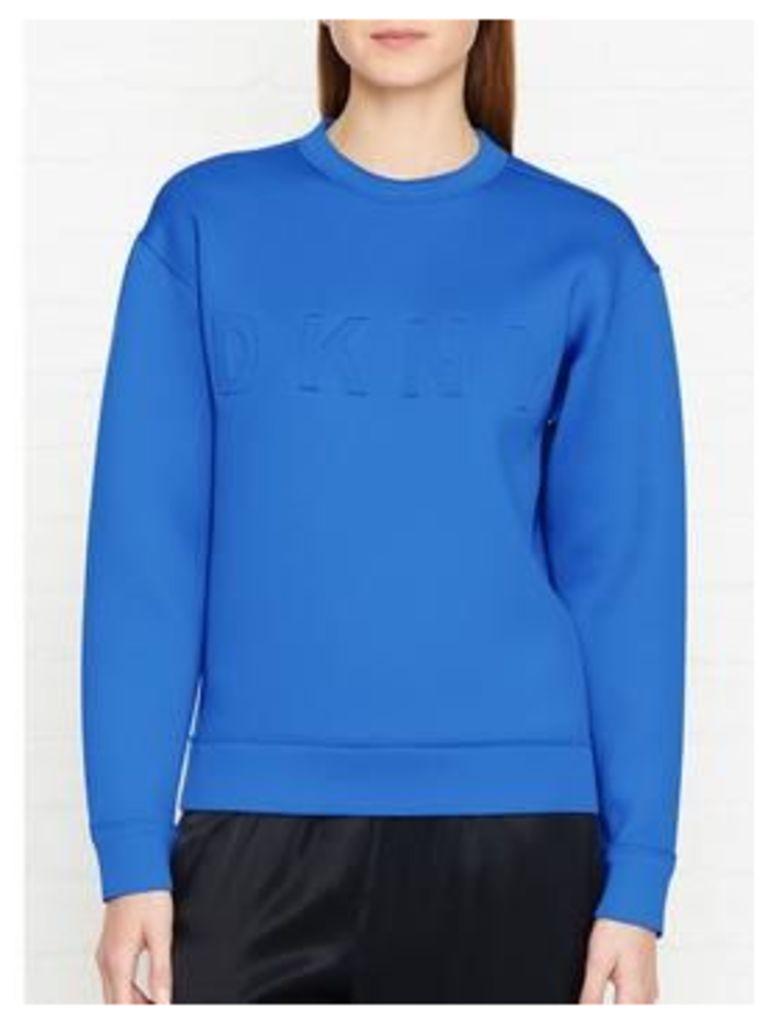 Dkny Logo Sweatshirt - Blue, Size L