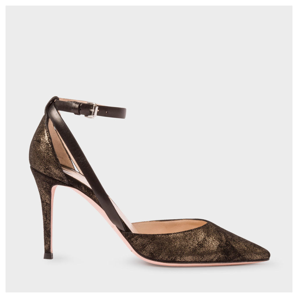 Women's Black And Gold Suede 'Naomi' Shoes