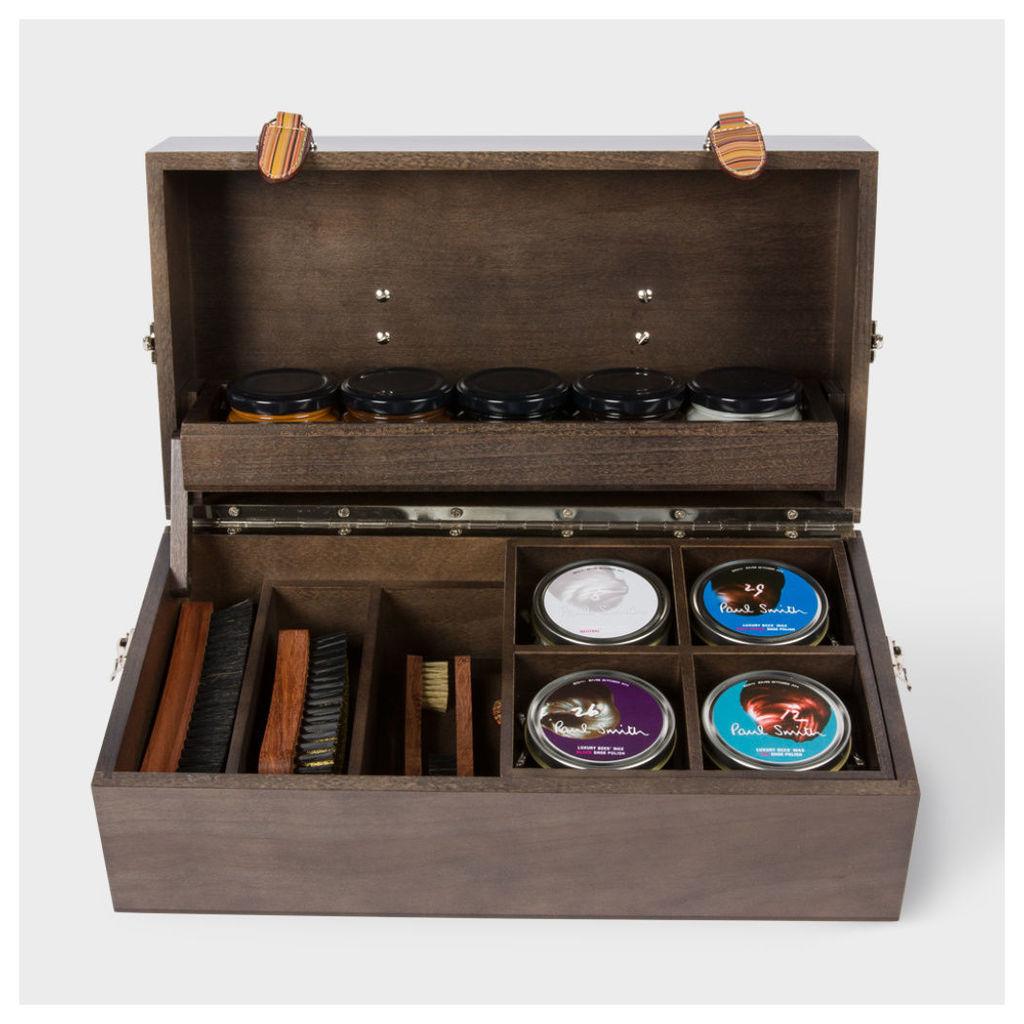 Paul Smith Shoe Care - Luxury Wooden Shoe Care Kit